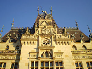 English: Iasi , Palace of Culture , detail , I...