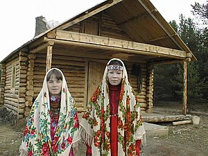 Two Khanty women in Man uskve nomad camp, Bere...
