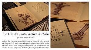 Français : La Vie des quatre bâtons de chaise,...