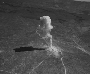 English: Little Feller I. Mushroom cloud. The ...