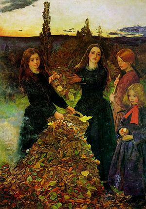 "John Everett Millais, ""Autumn Leaves""."