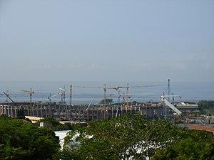 Moses Mabhida Stadium in Durban South Africa, ...
