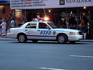 Police Interceptor of the New York City Police...