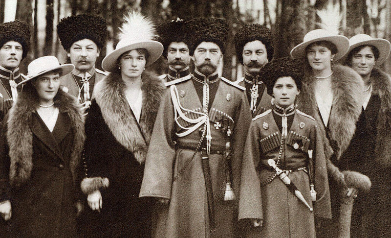 File:Nicholas II and children with Cossacks of the Guard, cropped.jpg