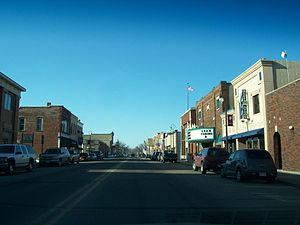 English: Looking north at downtown Prairie du ...