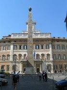 Piazza Monte Citorio, Roma, Italia