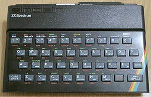 A Sinclair ZX Spectrum computer