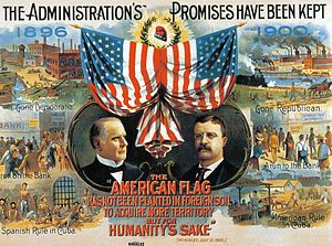 English: A 1900 Republican campaign poster for...