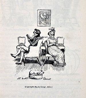 English: Mr. and Mrs. Bennet. Austen, Jane. Pr...