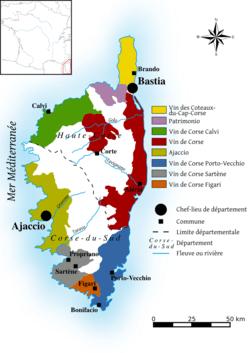 Corsica Wine Map