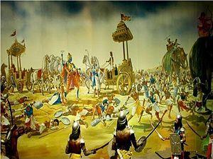 English: 9th Day Kurukshetra War Painting form...