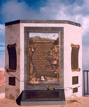 """Plaque commemorating the song, """"America t..."""