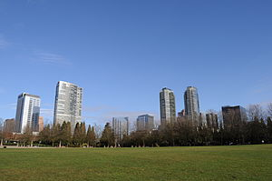 Bellevue, Washington skyline from Downtown Park.