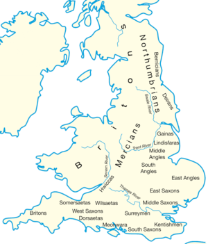 Map Of England 600 Ad.C5th C11thce Anglo Saxon England The Isles Project