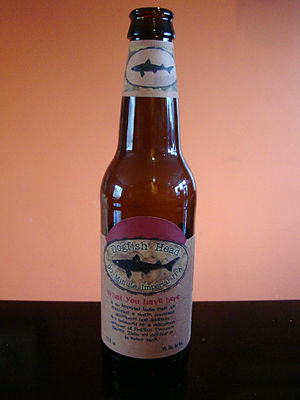 English: Bottle of Dogfish Head 90 minute Impe...