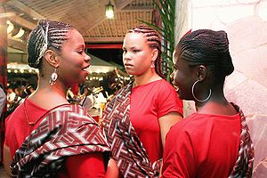 Afro-Brazilian women during a Candomblé ceremony.