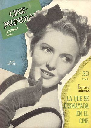 Jean Arthur on the Argentinean Magazine cover.