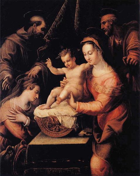 File:Lavinia Fontana - Holy Family with Saints.JPG