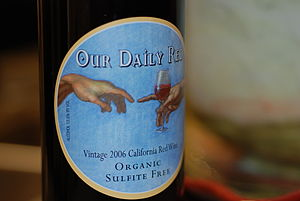A California red wine with label indicating th...