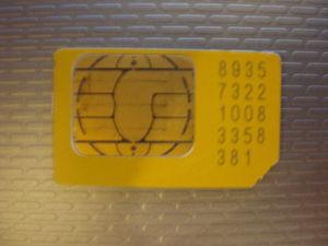 Hornjoserbsce: A sim card