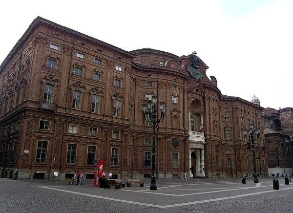 Palazzo Carignano's majestic Baroque façade (wikimedia.org)