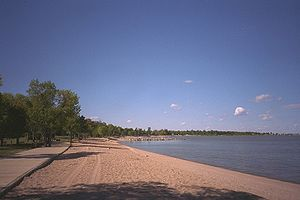 English: Winnipeg Beach on Lake Winnipeg in Ma...