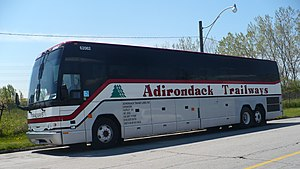 Adirondack Trailways bus #62062