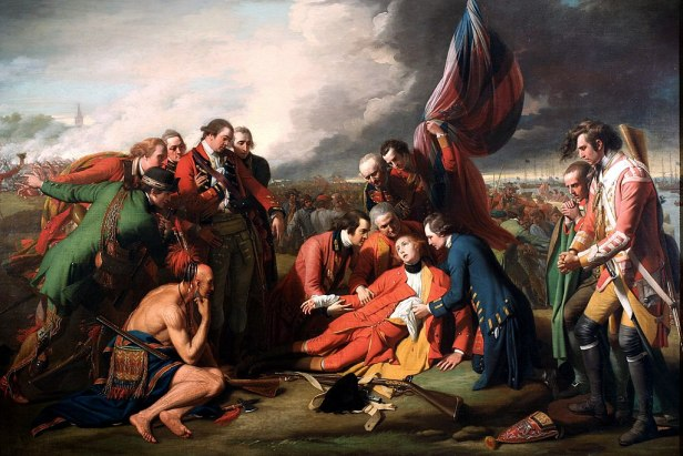 """Death of General Wolfe"" by Benjamin West"