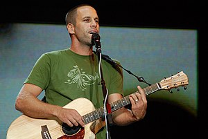 Jack Johnson performing at the 2008 Bonnaroo M...