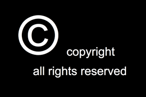 English: Copyright logo, all rights reserved
