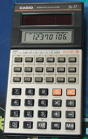 Rare Casio fx-77 Solar Powered Scientific Calc...