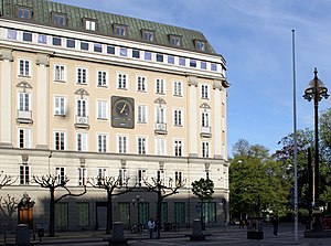 The building where Kreditbanken was at Norrmal...