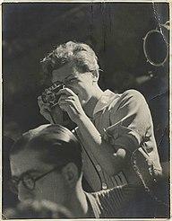Gerda Taro en el frente de Guadalajara, en julio de 1937