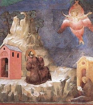 St. Francis receives the Stigmata (fresco attr...