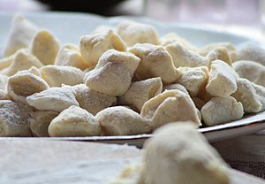 Gnocchi, ready to be cooked.