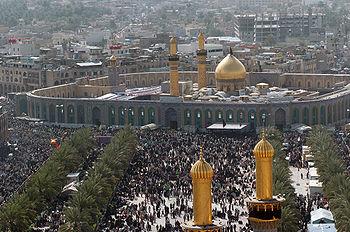 The Shrine of Imam Hussain ibn Ali in Karbala, Iraq