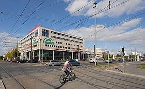 Shopping mall Linden-Center at Prerower Platz,...