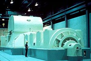 English: NRC Image of Modern Steam Driven Turb...