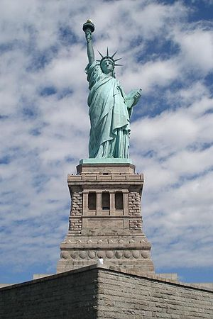 The Statue of Liberty front shot