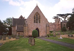English: Acton Burnell Church and Castle. An e...