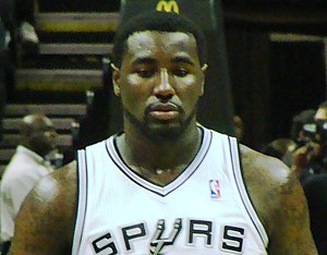English: DeJuan Blair of the San Antonio Spurs...