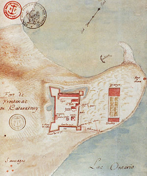 English: Fort Frontenac at Cataraqui, 1685.