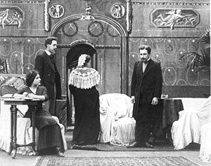 """English: """"Idiot"""" (1910). Film screen..."""
