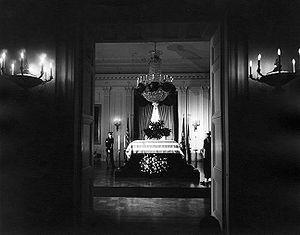 The body of President John. F. Kennedy lies in...