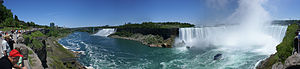 Niagara falls panorama from Canadian side