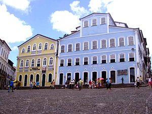 Square in Salvador, Bahia, Brazil