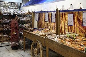 Inside a supermarket in Russia