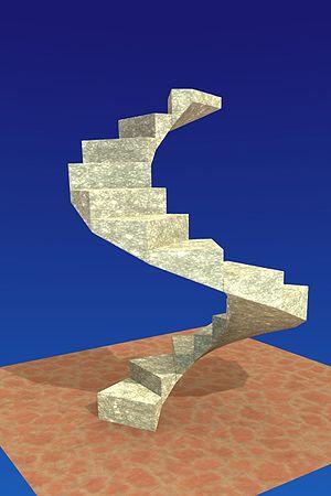 Spiral stair case.