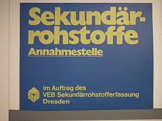 DDR Museum Zeitreise Radebeul, Schild SERO Annahmestelle
