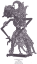 Ghatotkacha as seen in Javanese shadow puppet ...